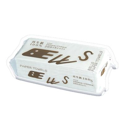 【ベル ペーパータオル 】中判サイズ 200枚