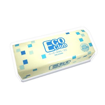 【エコクラブ ペーパータオル】小判サイズ 200枚