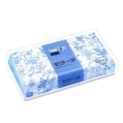 【モラーヌ タオルペーパー】中判サイズ 100枚