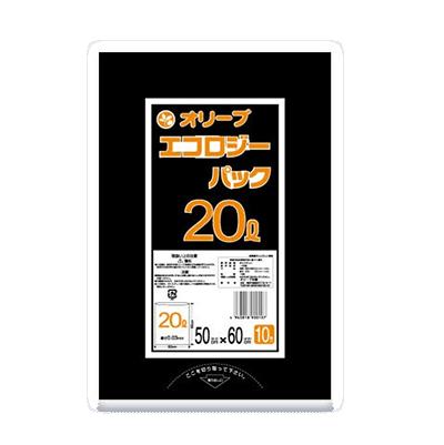 オリーブ本舗オリジナル【オリーブ エコロジーパック0.03mm 20Lゴミ袋】10枚