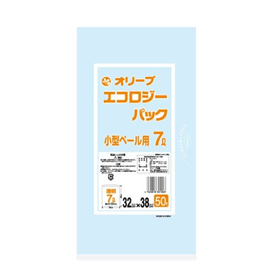 オリーブ本舗オリジナル【オリーブ エコロジーパック0.02mm 7Lゴミ袋】50枚