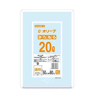 オリーブ本舗オリジナル【オリーブ かちある0.025mm 20Lゴミ袋】10枚
