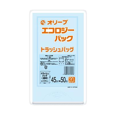 オリーブ本舗オリジナル【オリーブ エコロジーパック0.025mm 15Lトラッシュバッグ】20枚
