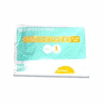オリーブ本舗オリジナル【オリーブHDポリエチレン手袋】Lサイズ 200枚