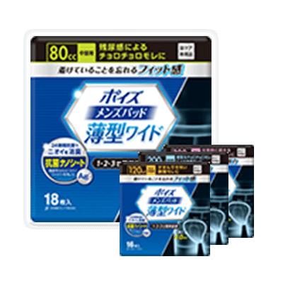 ポイズ【メンズパッド 薄型ワイド】軽失禁 男性用