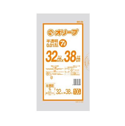 オリーブ本舗オリジナル【オリーブ 0.01mm 7Lゴミ袋】100枚