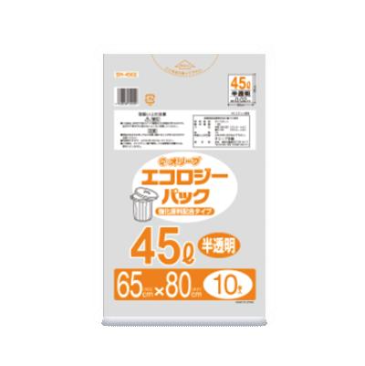 オリーブ本舗オリジナル【オリーブ エコロジーパック0.02mm 45Lゴミ袋】10枚