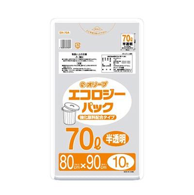 オリーブ本舗オリジナル【オリーブ エコロジーパック0.025mm 70Lゴミ袋】10枚