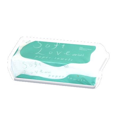 【ソフトラブミニ ペーパータオル】小判サイズ 200枚
