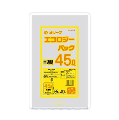 オリーブ本舗オリジナル【オリーブ エコロジーパック0.03mm 45Lゴミ袋】10枚